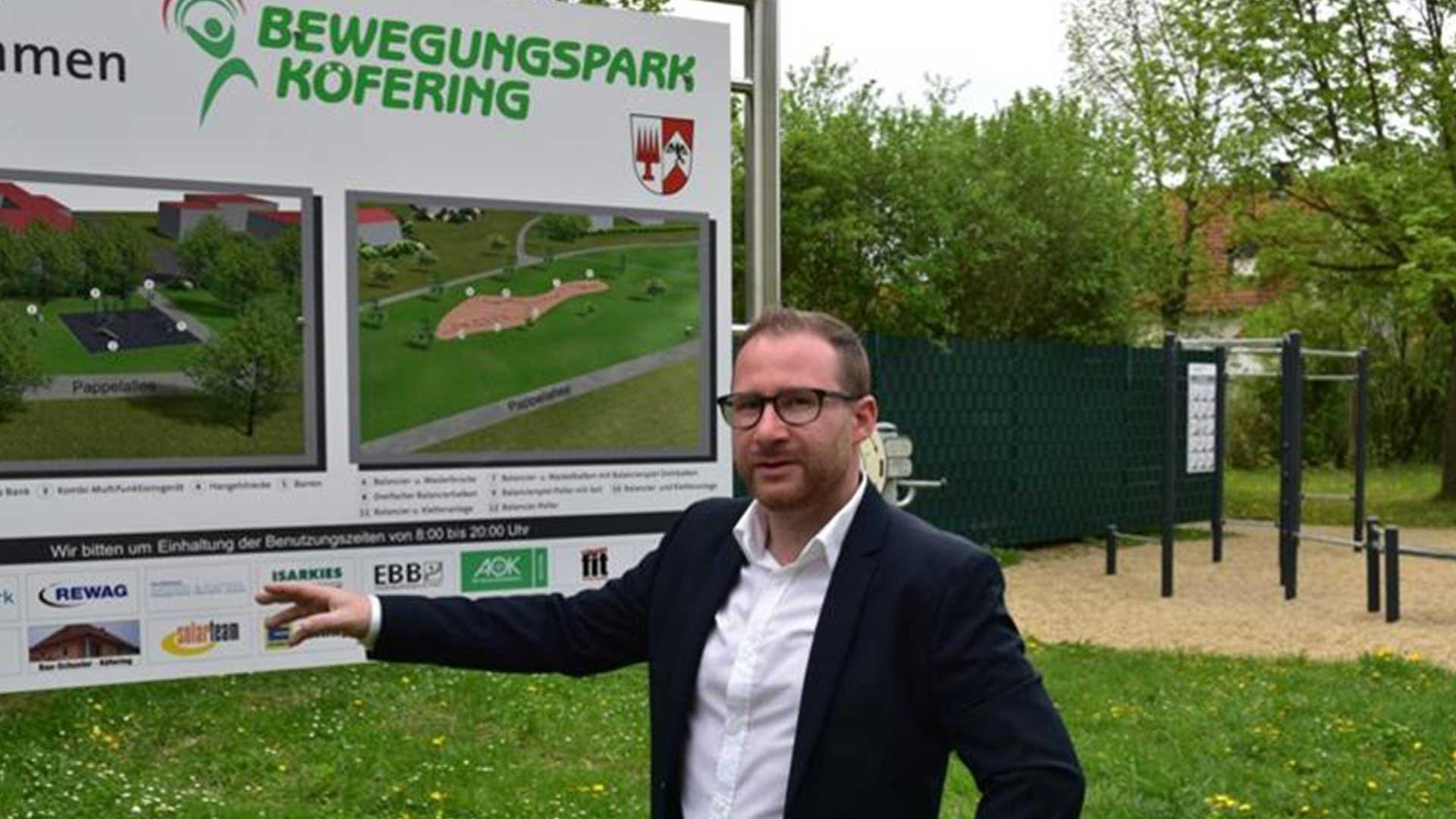 Manuel Hagen am Bewegungspark